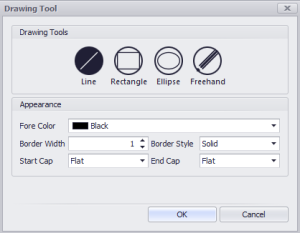 Drawing tools dialog